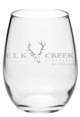 Etched Logo Wine Glasses